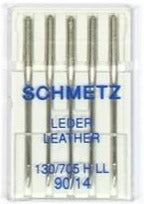 90/14 Leather Needles - 5 Pack - Schmetz 130/705HLL