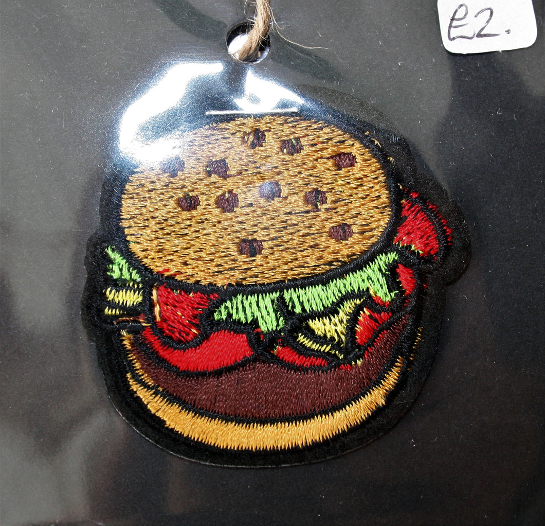 Small Burger - Iron On Motif