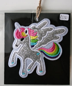 Sparkly Unicorn - Iron On Motif