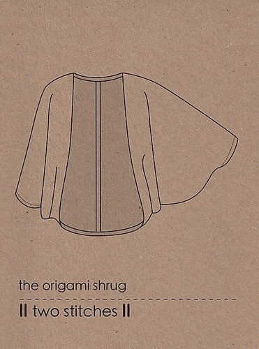 the origami shrug - two stitches
