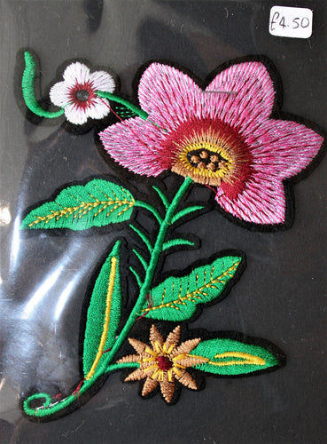 Tropical Flower - Iron On Motif