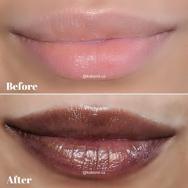 8 oz PIGMENTED Pre-mixed/Wholesale Dark Brown with Gold Sheen Lip Gloss | Vegan