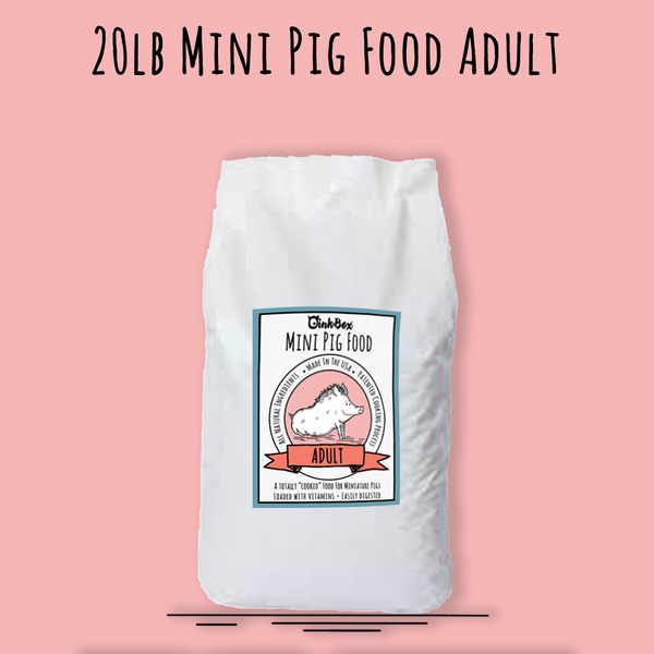 20lb Mini Pig Food ADULT