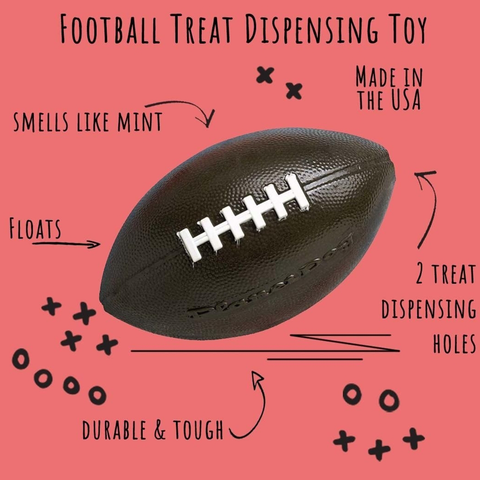 Football Treat Dispensing Toy