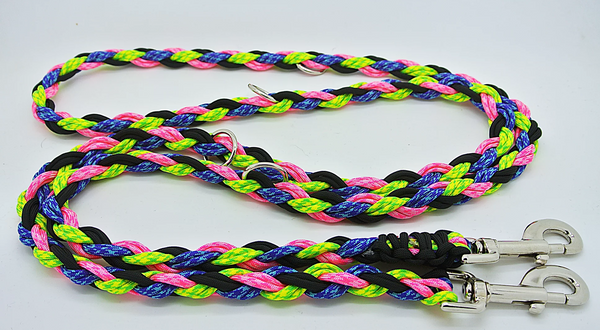 OinkBox pig harness - neon pink green