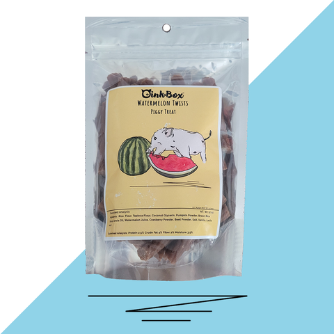 Vegan Watermelon Twist Piggy Treats