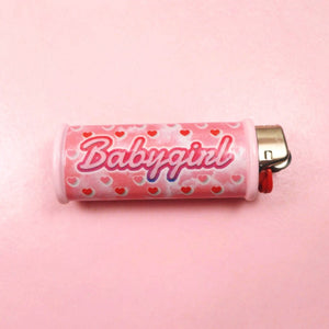 Babygirl Heart Bic Lighter Case