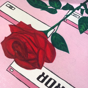 """Cyber Rose"" Oil Painting *SOLD*"