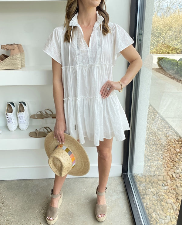 White Mini Swing Dress