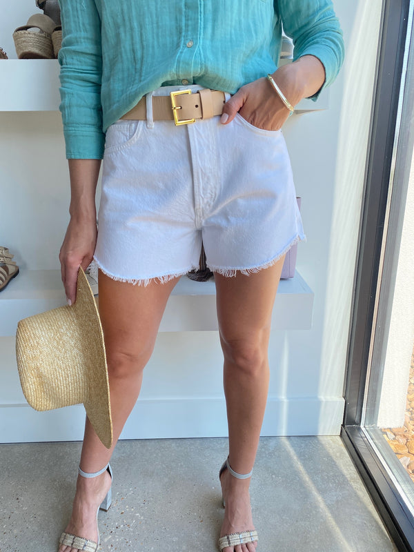 White Marlow Short in Sail
