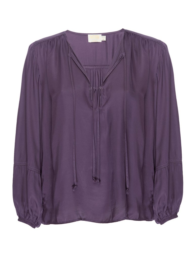 NA1185SA Purple Rain Sandra Seamed Blouse