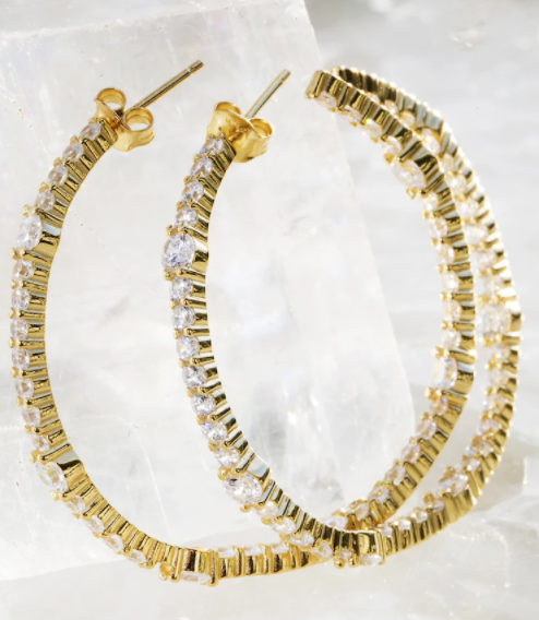 Native Gem Wild Child 14K Gold Hoops