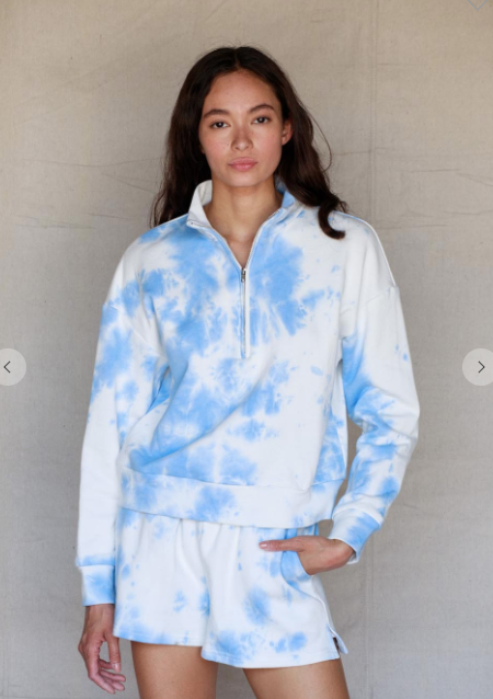 Blue Tie Dye Zip Up Set