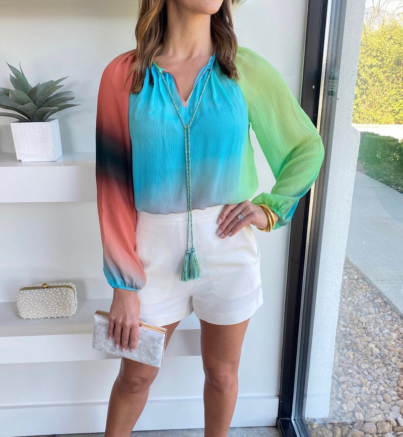 Electric Ombre Blouse