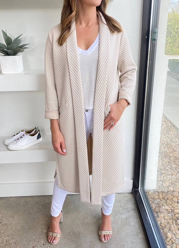 Bone Ribbed Duster