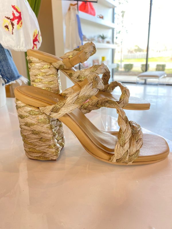 Natural Bali Braided Heels