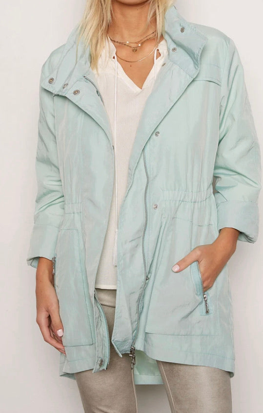 Pale Mint anorak Rain Jacket
