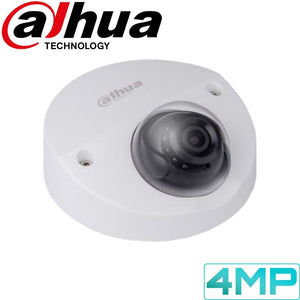 Dahua Security Camera: 4MP Mini-Dome, Fixed Lens, 20m IR