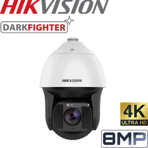 HIKVISION Deep Learning Security Camera: 8MP PTZ, 25X Zoom, 200m IR
