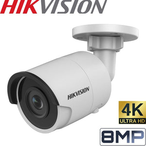 HIKVISION Security Camera: 8MP, Bullet Mini, Fixed 4mm