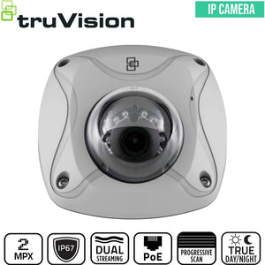 TruVision Security Camera: 2MP Mini Dome with IK8 Vandal Protection
