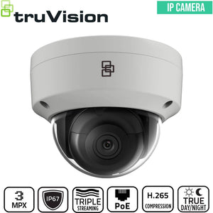 TruVision Security Camera: 3MP Dome with IK10 Vandal Protection