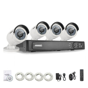 Annke 8 Channel Security System: 6MP Super HD NVR, 4 x 4MP Bullet Cameras
