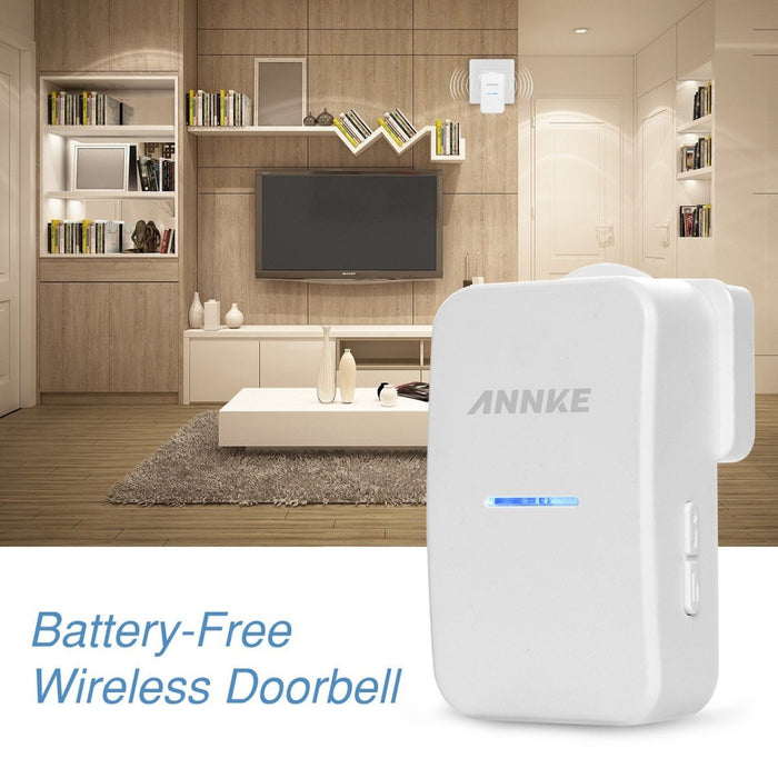 Annke Wireless Doorbell: Push Button Door Chime With LEDs