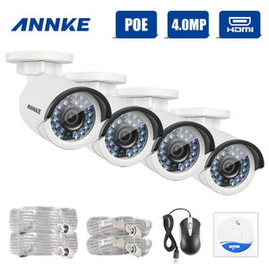 Annke Security Camera: 4MP IP Bullet Camera x 4