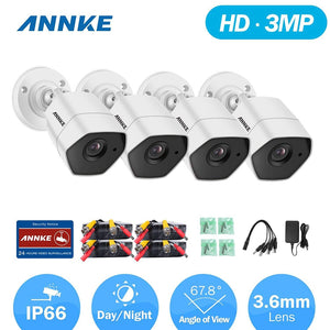 Annke Security Camera: 3MP HD Bullet with EXIR Night Vision x 4
