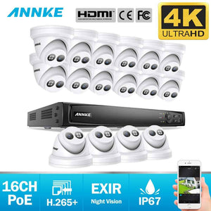 Annke 16 Channel Security Kit: 8MP NVR, 16 X 8MP(4K Ultra HD) Turret Cameras