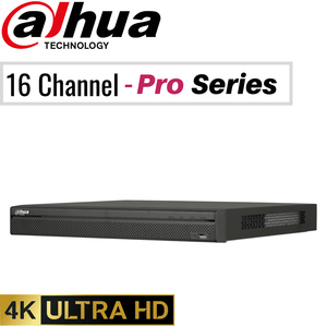 Dahua 16 Channel Network Video Recorder: 12MP (4K) Pro Series