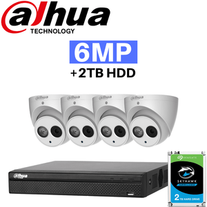 Dahua 8 Channel Security System: 8MP Lite NVR, 4 x 6MP Eyeball Cameras, 2TB HDD