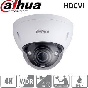 Dahua Security Camera: HDCVI 8MP VF Dome 3.7-11mm, IK10