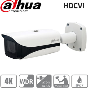 Dahua HAC-HFW3802E-Z-VP Security Camera: HDCVI 8MP VF Bullet 3.7-11mm, IK10