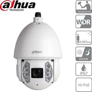Dahua Security Camera: 2MP Starlight PTZ, 30X Zoom, IK10