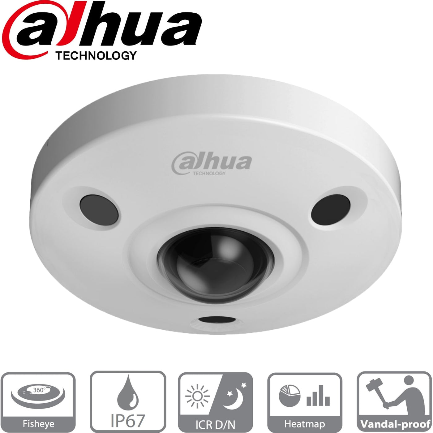 Dahua Security Camera: 12MP Fisheye 360, Ik10