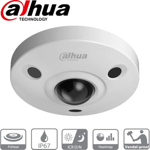Dahua EBW81230 Security Camera: 12MP Fisheye 360, Ik10