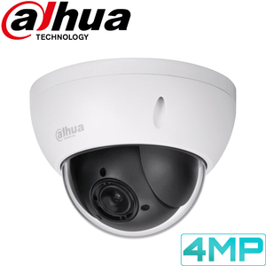 Dahua Security Camera: 4MP PTZ, 4X Zoom, IK10