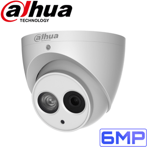 Dahua Security Camera: 6MP Fixed Lens Eyeball, Built-In Mic