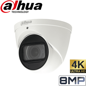 Dahua Security Camera: 8MP (4K) Varifocal Eyeball 2.7-12mm