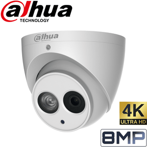 Dahua 4 Channel Security Kit: 8MP NVR, 4 X 8MP(4K Ultra HD) Turret Cameras, 2TB HDD