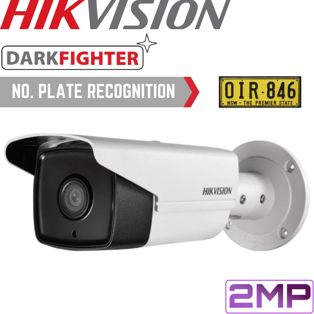 Hikvision DS-2CD4A26FWD-IZS/P Security Camera: 2MP ANPR Motorised VF Bullet  2 8-12mm