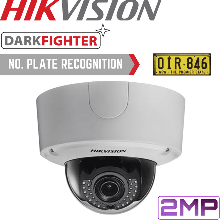 Hikvision Security Camera: 2MP ANPR Motorised VF Dome 2.8-12mm