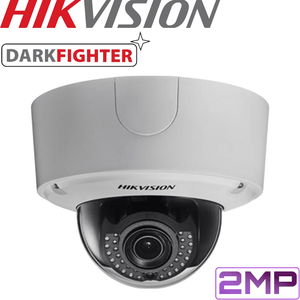 Hikvision Darkfighter Security Camera: 2MP Motorised VF Dome 2.8-12mm