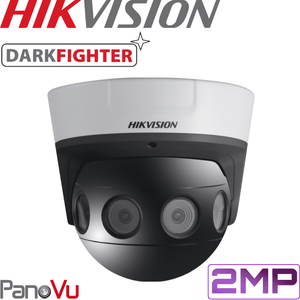 Hikvision DS-2CD6924F-IS-4 PanoVu Security Camera: 2MP Darkfighter 180° Panoramic Dome