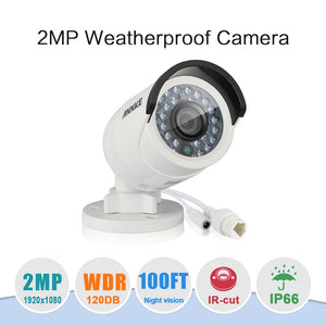 Annke Security Camera: 2MP IP Bullet with IR Night Vision