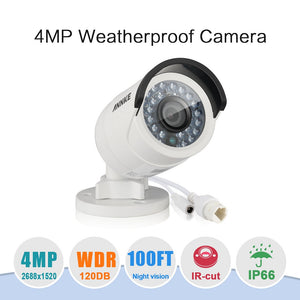 Annke Security Camera: 4MP IP Bullet with IR Night Vision