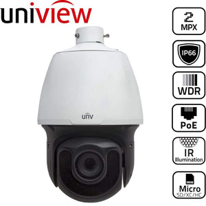 Uniview Security Camera: 2MP PTZ Dome Starlight IR, 33x Zoom