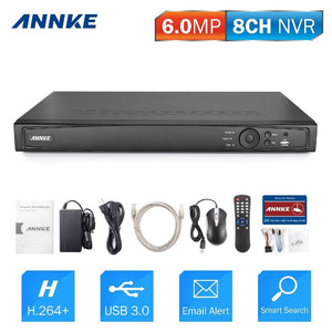 Annke 8 Channel Network Video Recorder: 6MP Super HD with H.264+